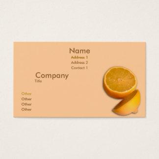 Cut Lemon Business Card