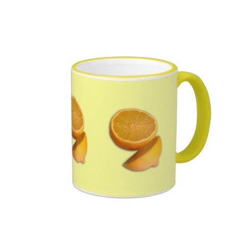 Cut Lemon Ringer Coffee Mug