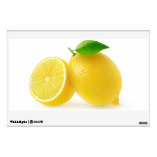Cut lemons wall decal