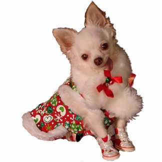Cut Little Chihuahua Christmas Ornament Cut Outs