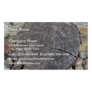 Cut Log, Woodgrain background texture Business Card