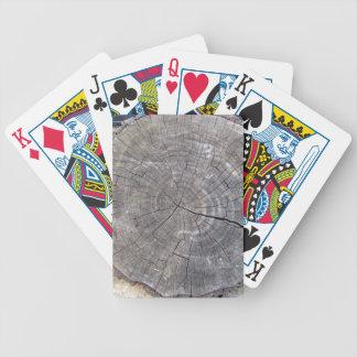 Cut Log, Woodgrain background texture Poker Cards