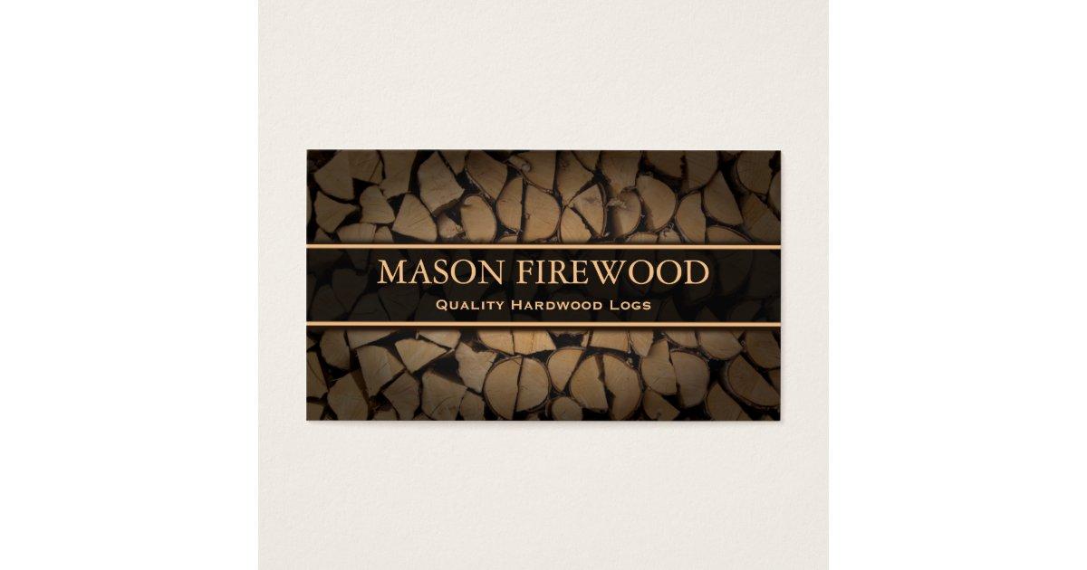 Cut Logs Firewood Supply Business Card | Zazzle.com