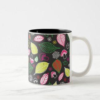 Cut natural autumn feafs doodles mug