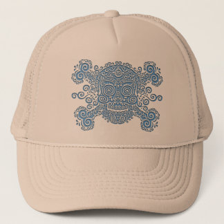 Cut-Out Antique Skull Trucker Hat