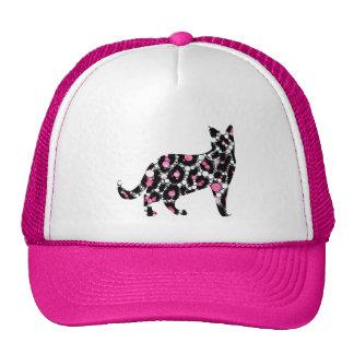 Cut Out Bling Cheetah Kitty Trucker Hat
