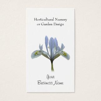 Cut out blue iris flower business card