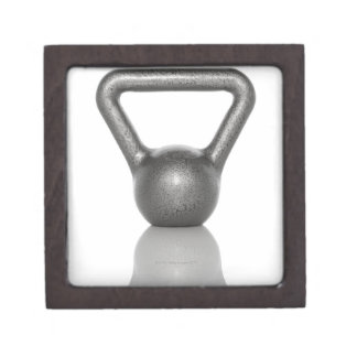 Cut out of a kettle bell on white background jewelry box