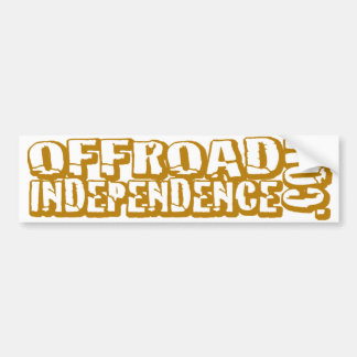 """Cut Out"" Off-Road Independence Bumpersticker Car Bumper Sticker"