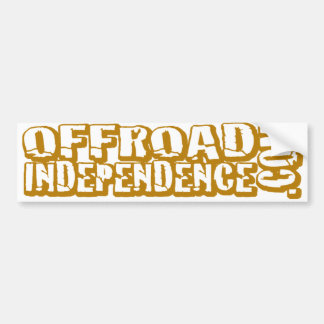 """""""Cut Out"""" Off-Road Independence Bumpersticker Bumper Sticker"""