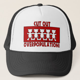 Cut Out Overpopulation! Cats Trucker Hat