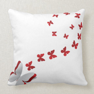 Cut out paper butterfly 2 throw pillow