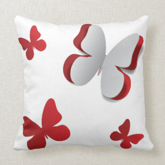 Cut out paper butterfly throw pillow