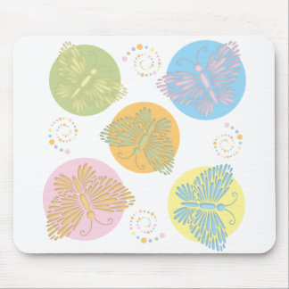 Cut Out Pastel Butterfly Mouse Pads