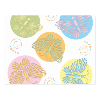 Cut Out Pastel Butterfly Postcard