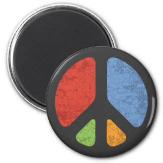 Cut-Out Peace Magnet