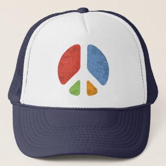 Cut-Out Peace Trucker Hat