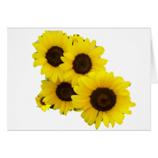 Cut Out Sunflowers Greeting Card