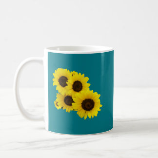 Cut Out Sunflowers Coffee Mug