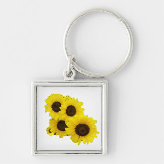 Cut Out Sunflowers Keychain