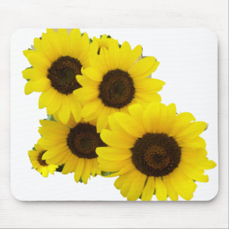 Cut Out Sunflowers Mouse Pad