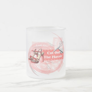 Cut Out The Hassle - Frosted Glass Mug