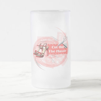 Cut Out The Hassle - Frosted Glass Stein