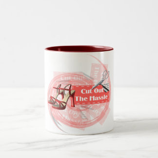 Cut Out The Hassle - Ringer Mug