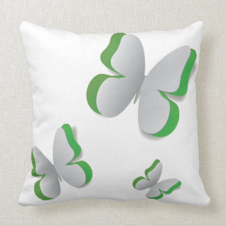 Cut out white paper butterfly pillow