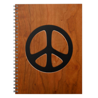 Cut-Out Wood Peace Notebook