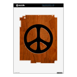 Cut-Out Wood Peace Skins For The iPad 2