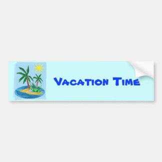 Cut Paper Island, Palms and Sun Bumper Stickers