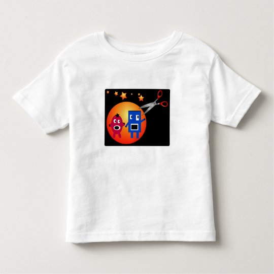 Cut & Paste Star Shapes Toddler T-shirt