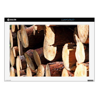Cut piece of tree skins for laptops