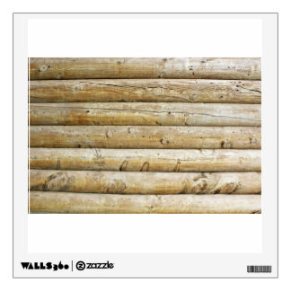 Cut Pieces Of Wooden Trees Wall Sticker
