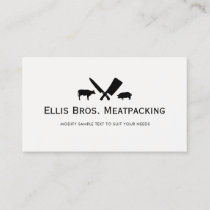 Cut Pig and Cow Butcher Shop Business Card