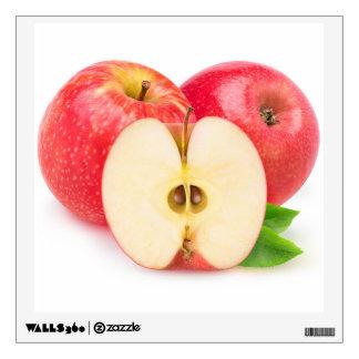 Cut red apples wall sticker
