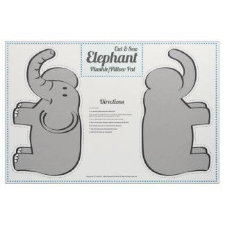 Cut & Sew Elephant Plushie - Pillow Pal Fabric