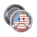 Cut Spending - Listen to the People!! Pinback Buttons