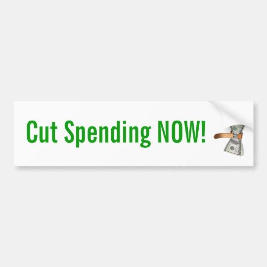 Cut Spending Now! Bumper Sticker