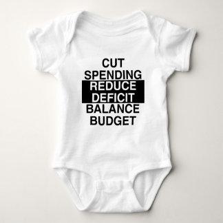 cut spending, reduce deficit, balance budget baby bodysuit