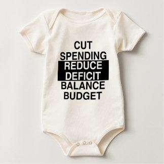 cut spending, reduce deficit, balance budget bodysuit