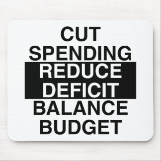 cut spending, reduce deficit, balance budget mouse pad