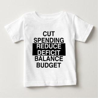 cut spending, reduce deficit, balance budget t-shirt