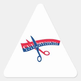 Cut Spending Scissors Cutting Bill Triangle Sticker