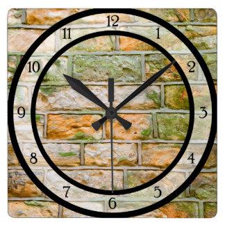 Cut Stone Wall Square Wall Clock