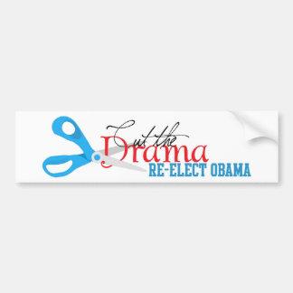 Cut the Drama, Re-elect Obama Bumber Sticker Car Bumper Sticker