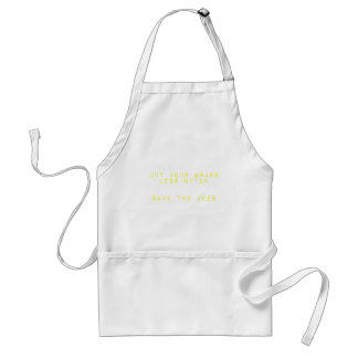 Cut the Grass Less Often. Save the Bees. Adult Apron