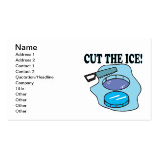 Cut The Ice Business Cards