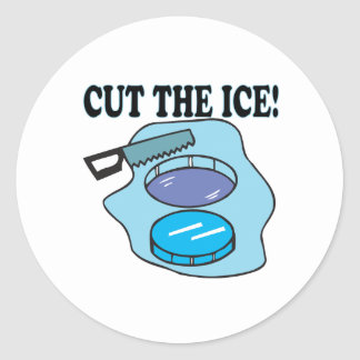 Cut The Ice Classic Round Sticker